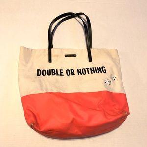 Kate Spade Bon Shopper Tote Bag Double or Nothing
